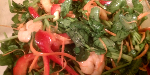 Watercress Shrimp Salad