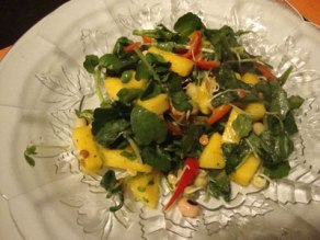 mango watercress salad